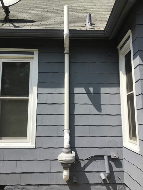 Radon mitigation system by SRE HomeServices